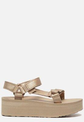 Teva Teva Flatform Universal Leather sandalen goud