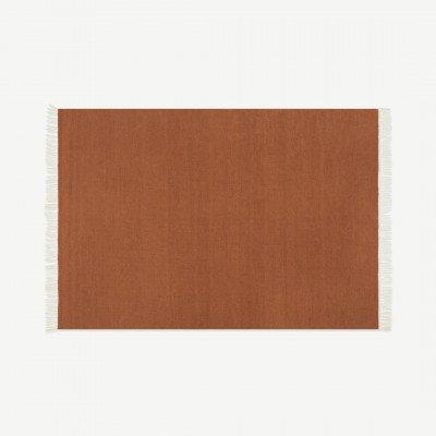 MADE.COM Ofrah binnen/buiten vloerkleed, groot, 160 x 230 cm, terracotta