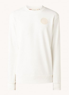 Scotch & Soda Scotch & Soda Sweater in biologische katoenblend met logo