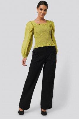 NA-KD Trend Heavy Cotton-blend Pants - Black