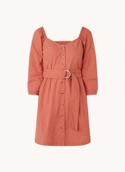 BAenSH ba&sh Cyrielle mini jurk van katoen met ceintuur