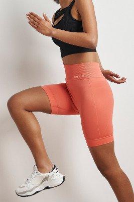 nu-in High Waist Cycling Shorts / XS / Orange