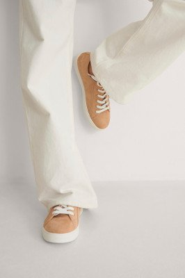 NA-KD Shoes NA-KD Shoes Basic Lace up Sneakers - Beige