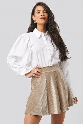 Trendyol Trendyol Velvet Knitted Skirt - Beige