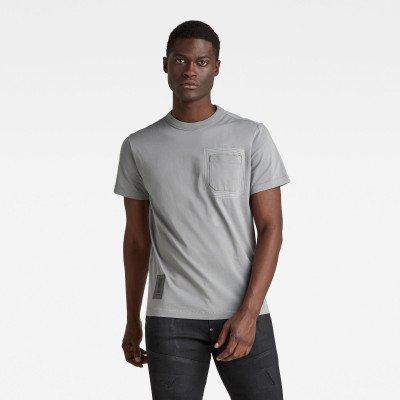 G-Star RAW Stitch Detail Pocket T-Shirt - Grijs - Heren