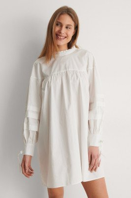 Curated Styles Curated Styles Detail Cotton Dress - White