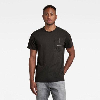 G-Star RAW Pocket Logo T-Shirt - Zwart - Heren