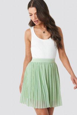 NA-KD Mini Pleated Skirt - Green