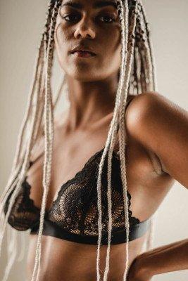 Understatement Understatement unisex vegan Bralette Triangel Zwart Zwart L Elastaan (lycra)/Polyamide (nylon)