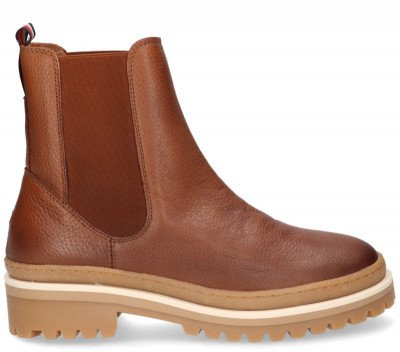 Tommy Hilfiger Tommy Hilfiger FW0FW05205 Cognac Dames Chelseaboots