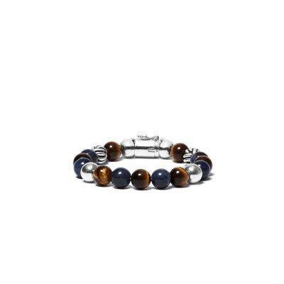 Buddha to Buddha Buddha to Buddha Armband Spirit Bead Mix Sodaliet Tijgeroog