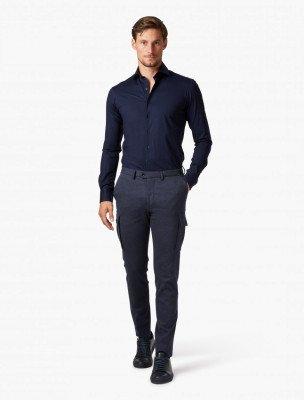 Cavallaro Napoli Cavallaro Napoli Heren Overhemd - Franco Overhemd - Donkerblauw