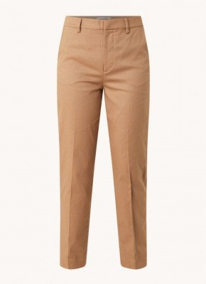 Scotch & Soda Scotch & Soda High waist straight fit cropped chino met persplooi
