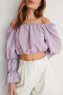 Trendyol Trendyol Off-Shoulder Blouse - Purple