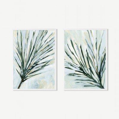MADE.COM Pines In The Wind, set van 2 ingelijste prints, door Jetty Home, A3