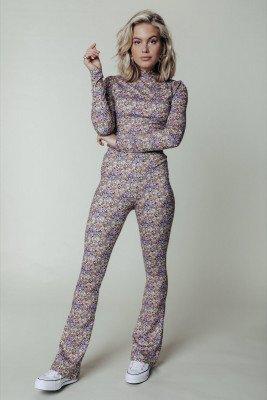 Colourful Rebel Colourful Rebel Neyo Mini Flower T-shirt Geel Dames - Slim Fit - Polyester