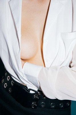 Stefanie Giesinger for nu-in Contrast Balloon Sleeve Shirt