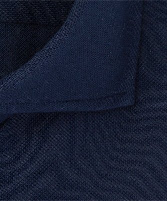 Profuomo Profuomo heren navy mercerised knitted overhemd Sky Blue