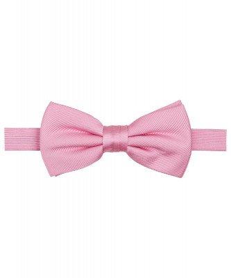 Profuomo Profuomo heren roze uni zijden strik