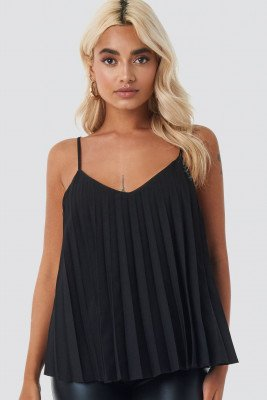 NA-KD Party NA-KD Party Pleated Cami Top - Black