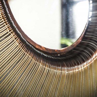 LifestyleFurn Spiegel 'Zooey' Ø80cm, kleur goud