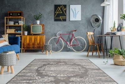 Kayoom Kayoom Vloerkleed 'Barok 800' kleur Antraciet, 160 x 230cm