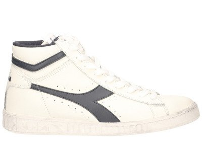 Diadora Sport Game L High Waxed Wit/Blauw Herensneakers