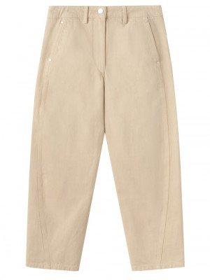 Matchesfashion Lemaire - High-rise Denim Straight-leg Trousers - Womens - Dark Cream