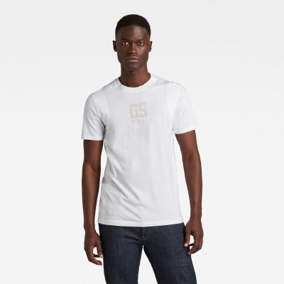 G-Star RAW Stitch & Graphic Slim T-Shirt - Wit - Heren
