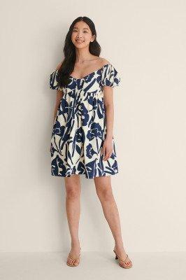 NA-KD Trend NA-KD Trend Organisch Off-shoulder Mini-jurk - Multicolor