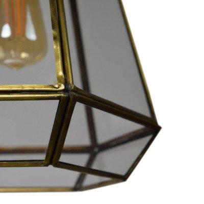 Urban Interiors Urban Interiors hanglamp 'Geo2' 20cm, kleur Brass Antique