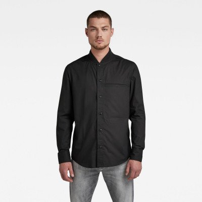 G-Star RAW Regular Shirt Bomber Collar - Zwart - Heren