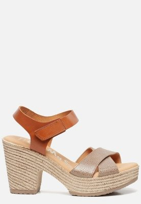 OH MY SANDALS OH MY SANDALS Sandalen met hak taupe