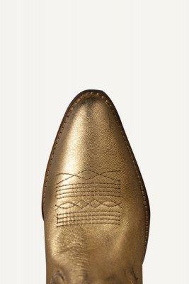 Shoecolate Shoecolate Cowboylaarzen plat Goud 8.20.08.500.01