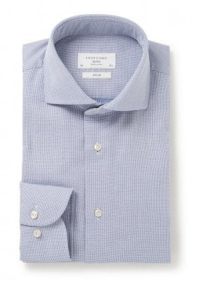Profuomo Travel Shirt slim fit overhemd met ruitdessin