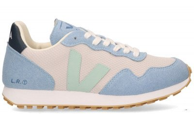 VEJA VEJA SDU REC Alveomesh Lichtgrijs/Blauw Damessneakers