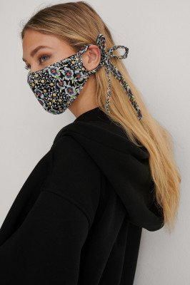 NA-KD Accessories NA-KD Accessories Embroidered Face Mask - Black