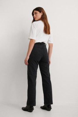 Dr Denim Dr Denim Rechte High Waist Jeans - Black
