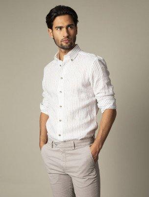 Cavallaro Napoli Cavallaro Napoli Heren Overhemd - Berlo Overhemd - Wit