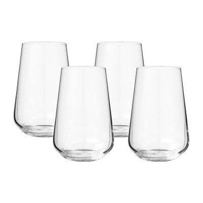 Xenos Waterglas kristal - set van 4 - 380 ml