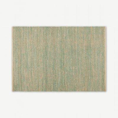 MADE.COM Enas groot juten vloerkleed, 160 x 230cm, watergroen