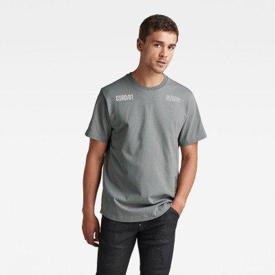 G-Star RAW C&S Back Multi Graphic Loose T-Shirt - Grijs - Heren