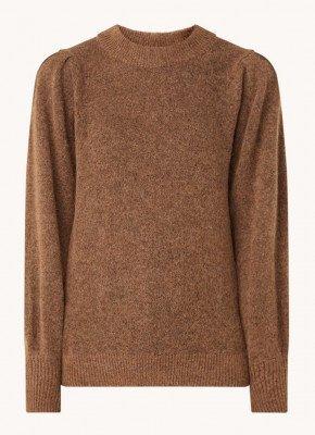 Selected Femme Selected Femme Star fijngebreide trui in alpaca blend met pofmouw