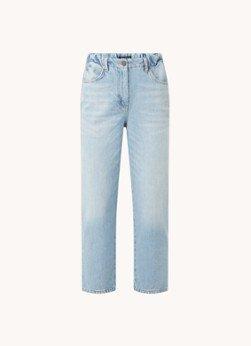 Whistles Whistles High waist straight fit cropped jeans van biologisch katoen