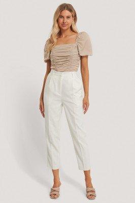 Chloé B x NA-KD Chloé B x NA-KD Geplooide Pantalon - White