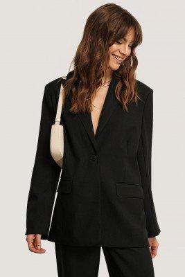 Monica Geuze x NA-KD Monica Geuze x NA-KD Blazer Met Boxy Pasvorm - Black