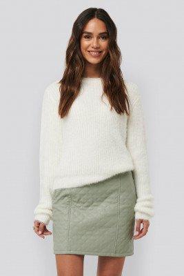 NA-KD NA-KD Quilted PU Skirt - Green