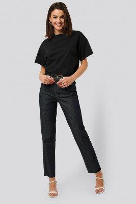 NA-KD NA-KD Mom Jeans Met Hoge Taille - Blue