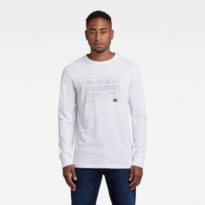 G-Star RAW Originals Blueprint T-Shirt - Wit - Heren