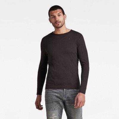 G-Star RAW Basic Round Neck Long Sleeve T-Shirt - Zwart - Heren
